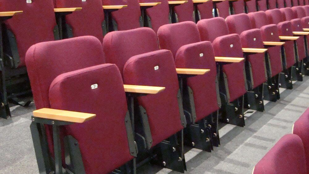 raked theatre seating