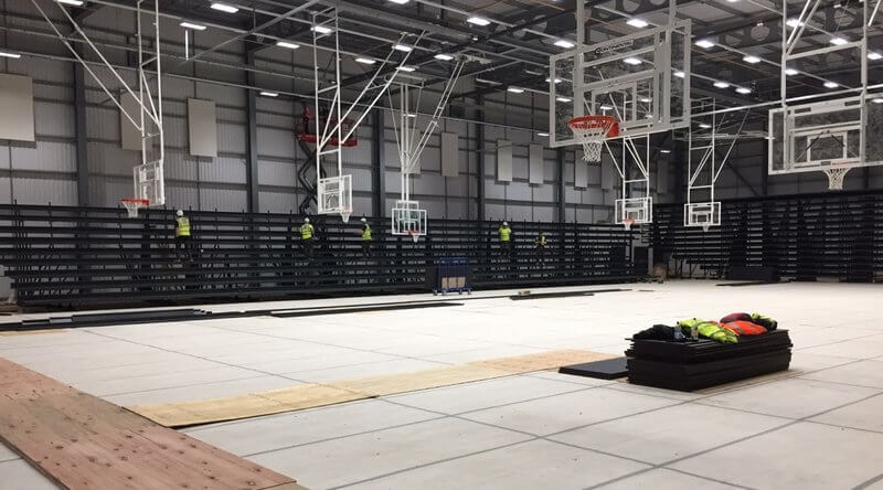 newcastle eagles east stand arena construction