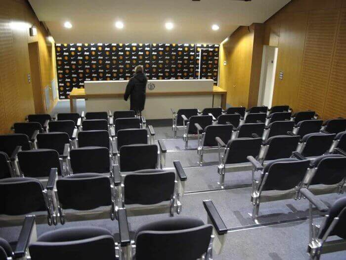 media room seating at Old Trafford