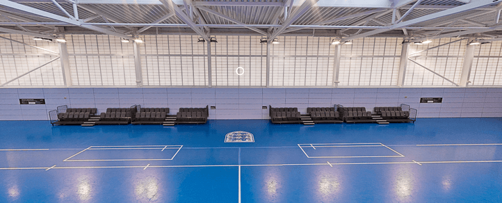 Futsal Arena Seating at St Georges Park