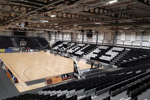 newcastle eagles retractable arena seating