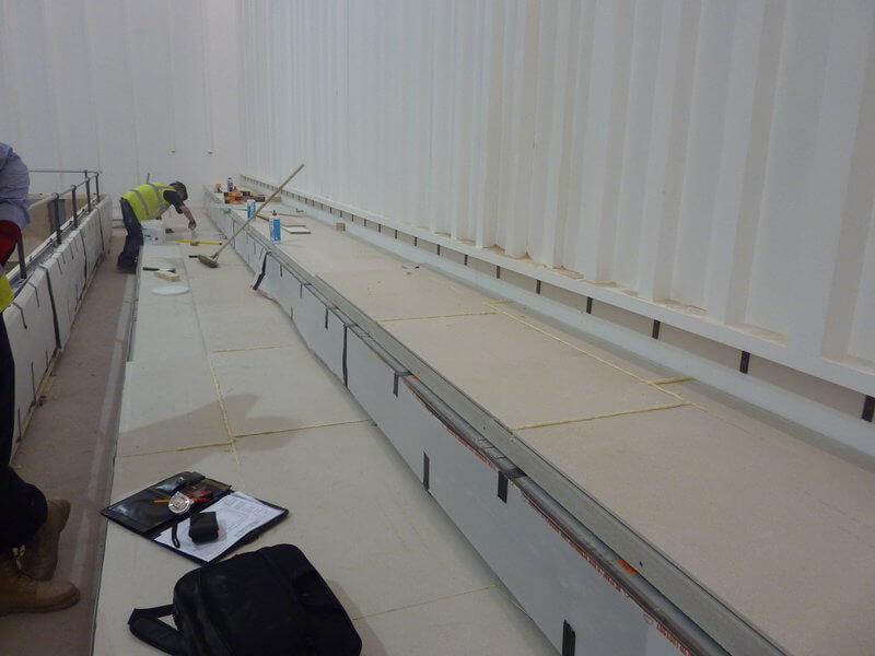 raked lecture hall seating