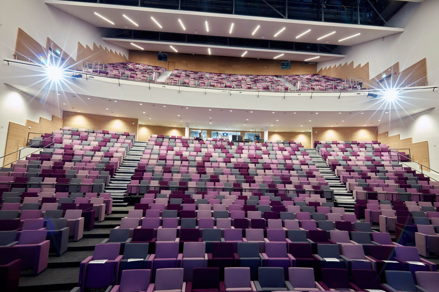 purple seating at icc wales