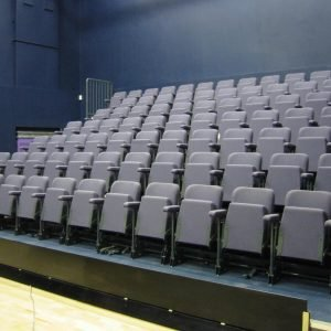 Theatre seating, Retractable seating, Grey seats