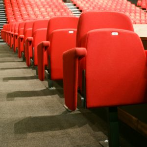Red balcony chairs, Theatre seating