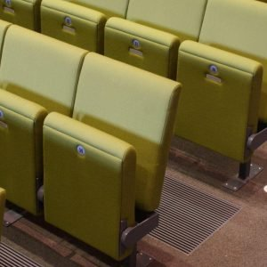 Green chairs, Theatre seating