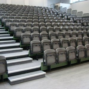 indoor retractable seating
