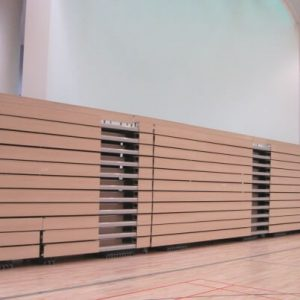 Closed retractable seating, bench seating
